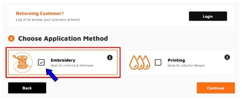 Choose application method