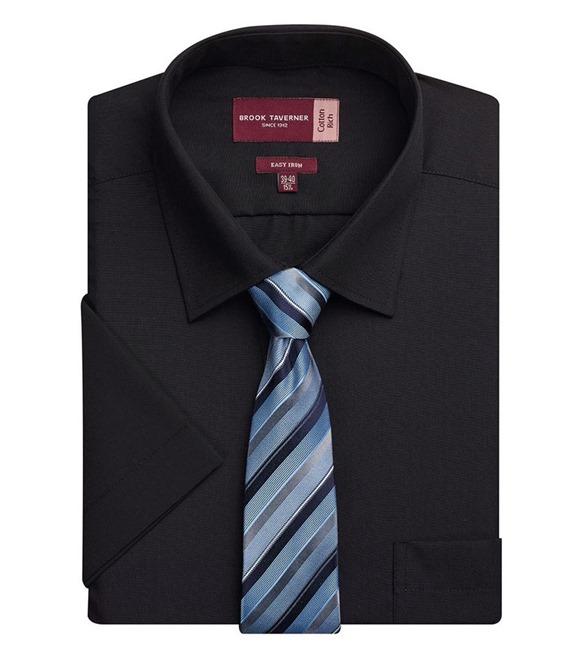Brook Taverner Mens Rosello Short Sleeve Formal Shirt 4 Colours RW299