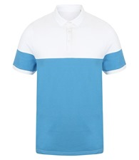 Front Row Contrast stretch polo shirt