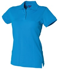 Henbury Women's stretch piqué polo shirt