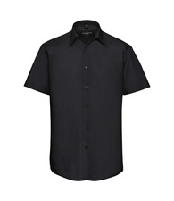 Russell Collection Short sleeve polycotton easycare tailored poplin shirt