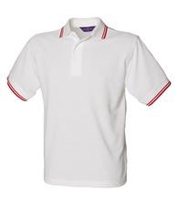 Henbury 65/35 kids tipped piqué polo shirt