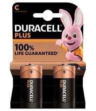 Duracell Plus Power C batteries 2-pack