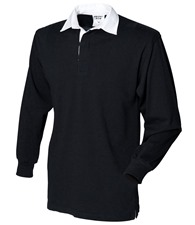 Front Row Kids long sleeve plain rugby shirt