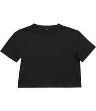 Build your Brand Girls cropped Jersey tee