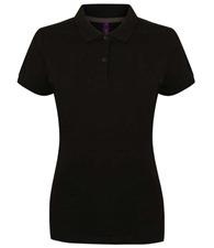 Henbury Women's micro-fine piqué polo shirt