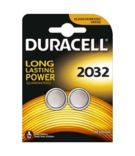 Duracell CR2032 lithium batteries 2-pack