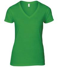 Anvil women's fashion basic v-neck tee