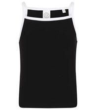 SF Minni Kids feel-good stretch contrast strappy vest