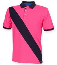 Front Row Kids diagonal stripe piqué polo shirt - tag-free