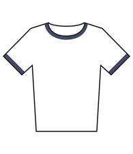 American Apparel® Women's polycotton ringer t-shirt