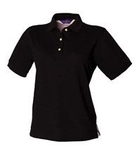 Henbury Women's classic cotton piqué polo shirt