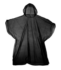 JB Emergency hooded plastic poncho