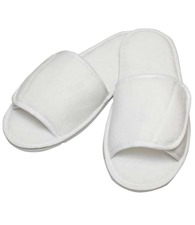 Towel City Open-toe slippers with hook and loop strap