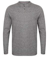Front Row Washed long sleeve Henley T